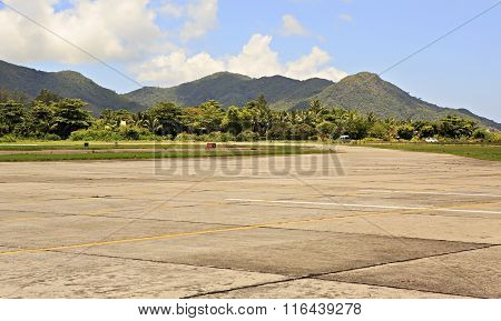 Praslin Island Airport also known as Iles des Palmes