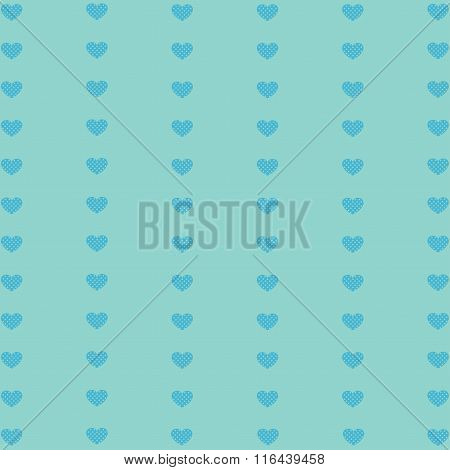 Hearts Geometric Pattern.