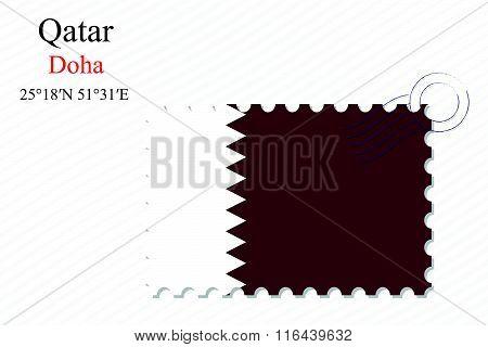 Qatar Stamp Design