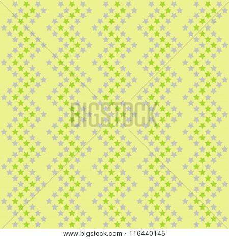Stars Green Pattern