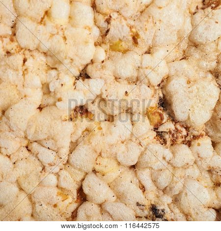 Diet rice cracker texture