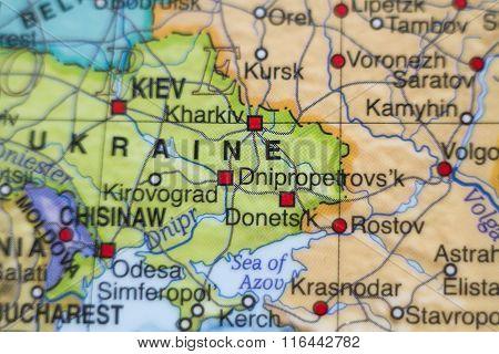 Ukraine Country Map .