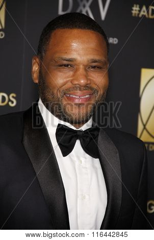 Anthony Anderson at the 20th Annual Art Directors Guild Excellence In Production Design Awards held at the Beverly Hilton Hotel in Beverly Hills, USA on January 31, 2016.