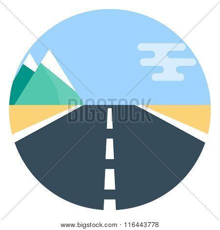 Vector road flat icon