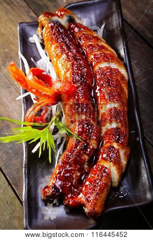 grilled eels unagi
