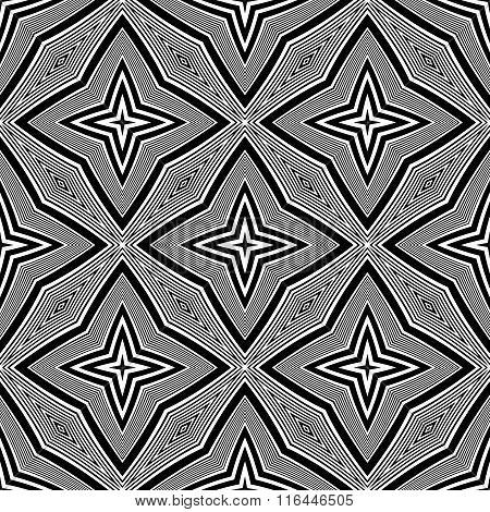 Design Seamless Monochrome Star Background