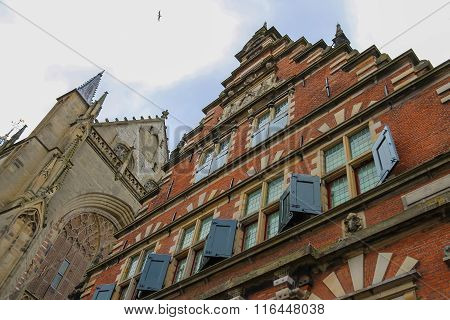 The Vleeshal (meat-hall) At The Grote Markt In Haarlem. The Netherlands