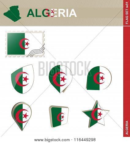 Algeria Flag Set, Flag Set #51
