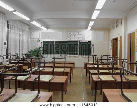 The Image Of Empty Classroom
