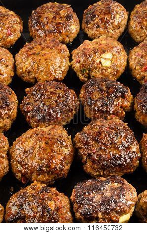 Freshly Fried Pork Meatballs With Onions