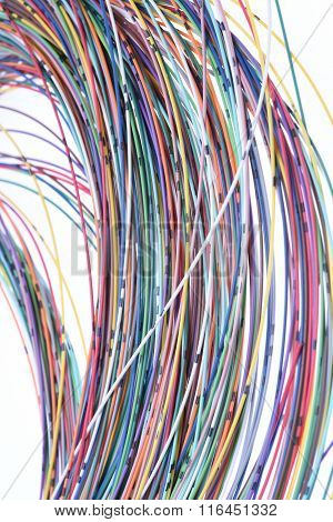 Telecommunication multicolored network cables