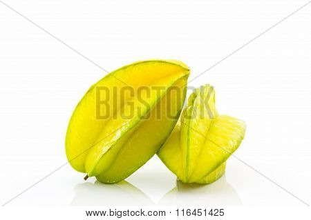 Star Fruit Or Carambola.
