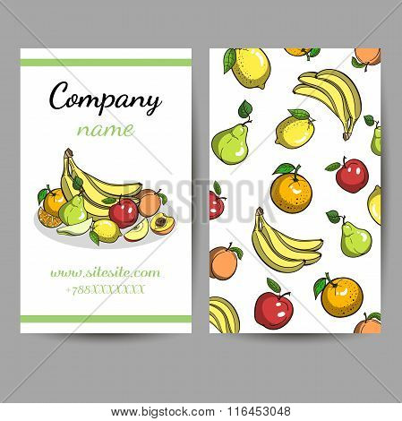Business Cards With Fruits