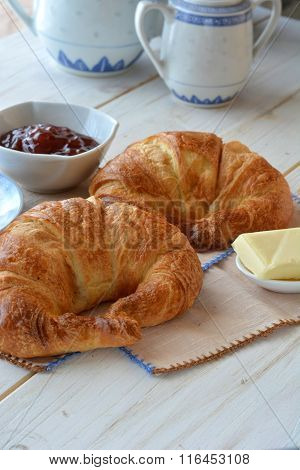 Table With Croissants