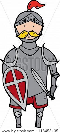 Cute Knight With Shield And Sword