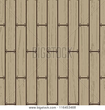 Seamless Pattern With Wooden Floor On Afterdeck.