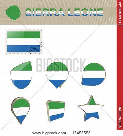 Sierra Leone Flag Set, Flag Set #61