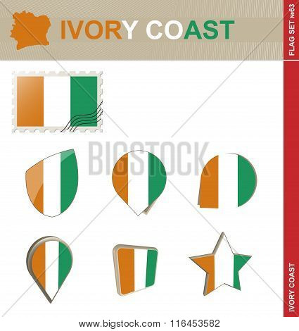 Ivory Coast Flag Set, Flag Set #63