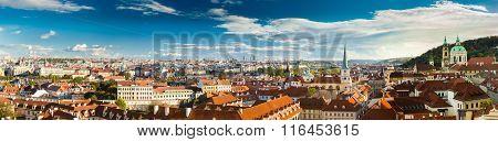 Panorama, cityscape of Prague, Czech Republic.