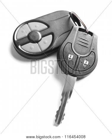 Car keys, isolated on white