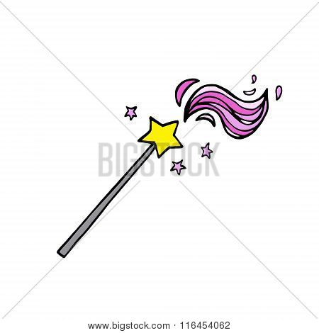 Magic Wand With Pink Waves