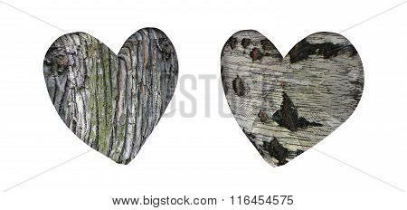 wooden heart 3D