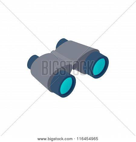 Black binoculars isometric 3d icon