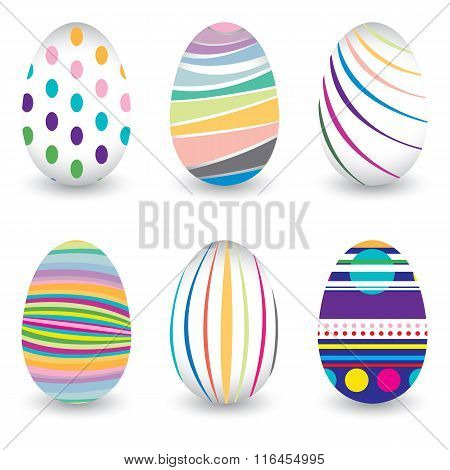 Easter day  for egg isolated on vector design. Colorful Chevron pattern for eggs.
