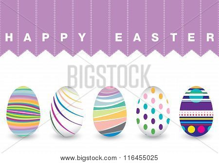 Easter day  for egg isolated on white background. Colorful Chevron pattern for eggs.