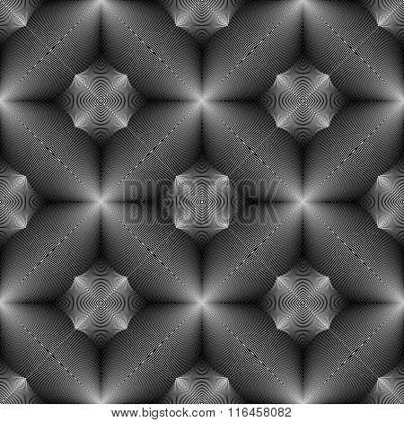 Design Seamless Monochrome Concave Pattern