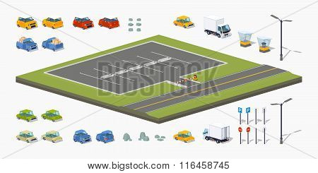 Parking lot constructor