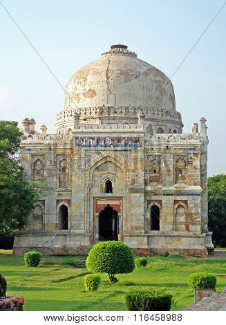 Lodi Gardens. Islamic Tomb (seesh Gumbad) Set In Landscaped Gardens. 15Th Century Ad.