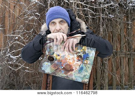Male Artist Outdoors
