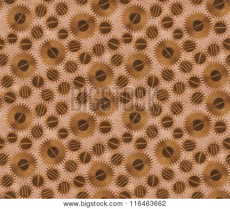 macro of pinions old brown seamless background