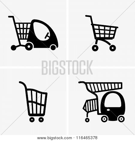 Children shopping carts