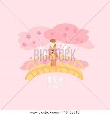 Japan Woman Wear Kimono