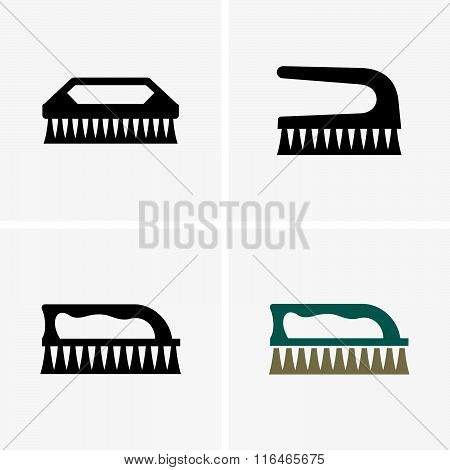Clothes cleaning brushes