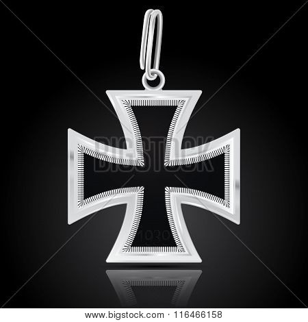 Knight's  Cross. German Military Medal World War Ii. Iron Cross.
