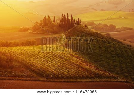 Sunrise in Italy