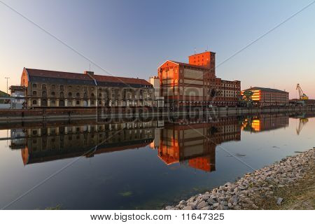 Old Factory at Rheinhafen Karlsruhe, Germany