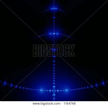 Fractal. Dark In Blue