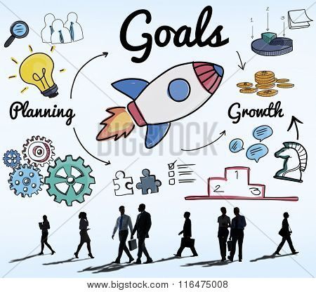 Goals Mission Motivation Aspiration Aim Concept