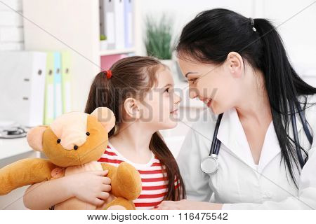 Doctor and child in the office