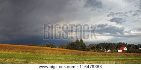 Cloudy Rural Landscape