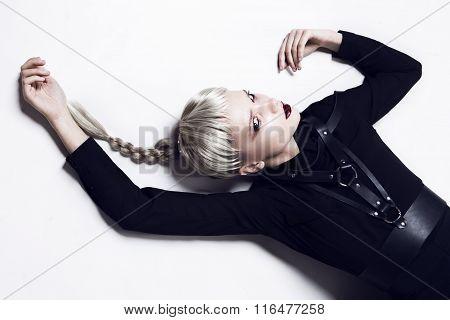 Upside down. Fashion lady.