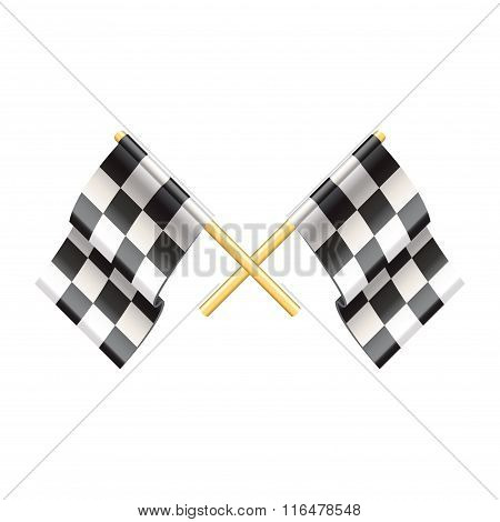 Rally Flags Isolated On White Vector