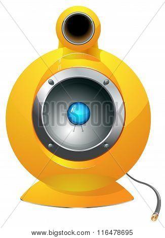Hi-tech audio speaker vector illustration