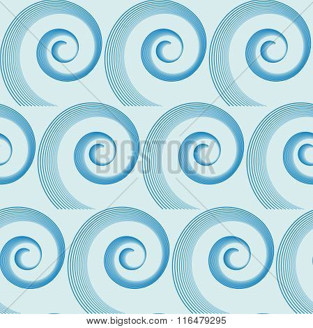 Abstract Waves Seamless Pattern. No Mesh, Gradient, Transparency Used. Objects Grouped And Named In