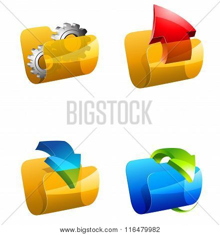 Folders vector illustration