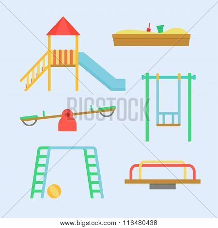 Playground Equipment Vector Set